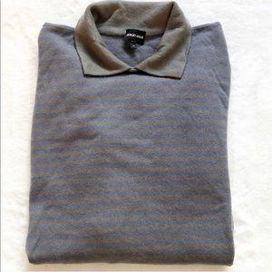 GIORGIO ARMANI 100% Cashmere Collared Sweater
